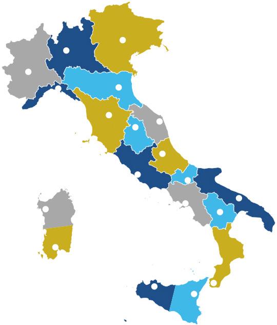 Mappa sezioni Unitalsi